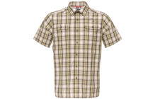 The North Face Men's S/S Pine Knot Woven dune beige plaid